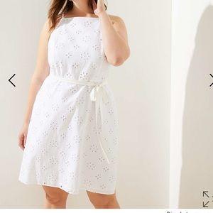 Loft white eyelet dress size 16